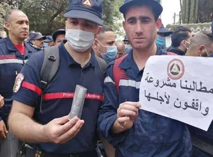 Algérie : 230 pompiers sanctionnés pour avoir manifesté