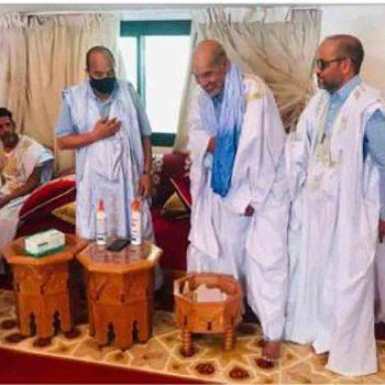 L'ancien président Aziz reçois une délégation du Front Polisario