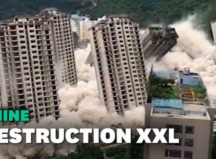 Chine: les images spectaculaires de 15 immeubles détruits en même temps