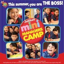 Jollibee Mini Managers Camp