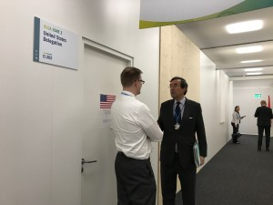US federal delegation office COP23 Nov 2017 Bonn