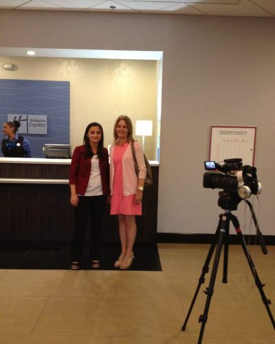 Me and Janice Lieberman from the Today Show
