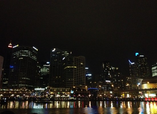 Darling Harbour Sydney Australia at Night on Christmas Eve