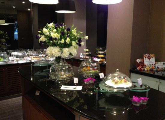 Thai Airways Royal First Class Lounge Dessert Buffet Station