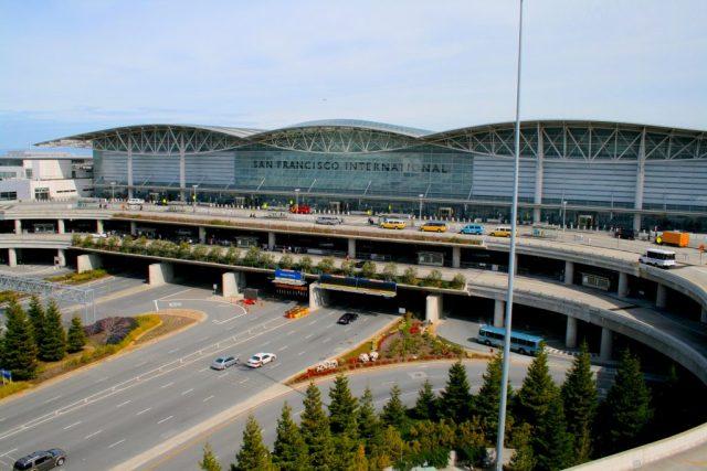 Lyft pickup at San Francisco International Airport