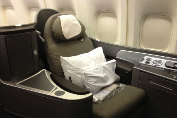 United Airlines first class