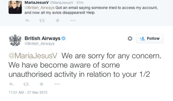 British Airways Avios gone