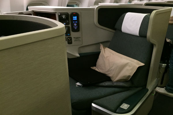 Cathay Pacific Business Class Seat San Francisco to Hong Kong