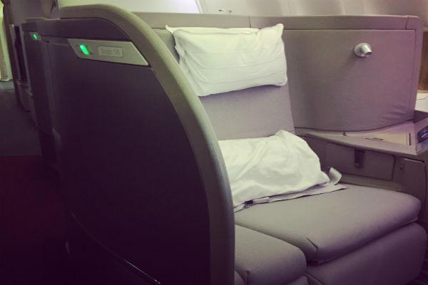 Cathay Pacific First Class Hong Kong to San Francisco
