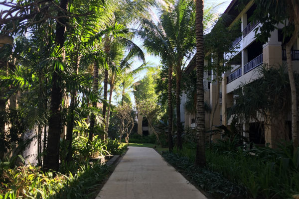 The walk up to the Pool Suite