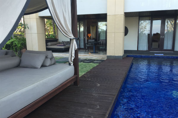 Conrad Bali Pool Suite Outdoor Area