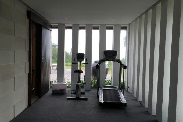 The gym at Villa Bulung Daya