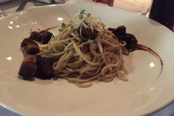 Braised lamb pasta at Eight Degrees South