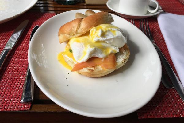 Eggs Benedict at Conrad Bali RIN