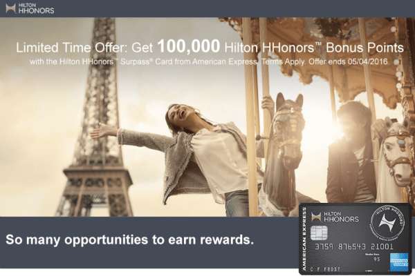 The 100,000 point sign-up bonus from the Hilton Honors Surpass Card goes further than you might think