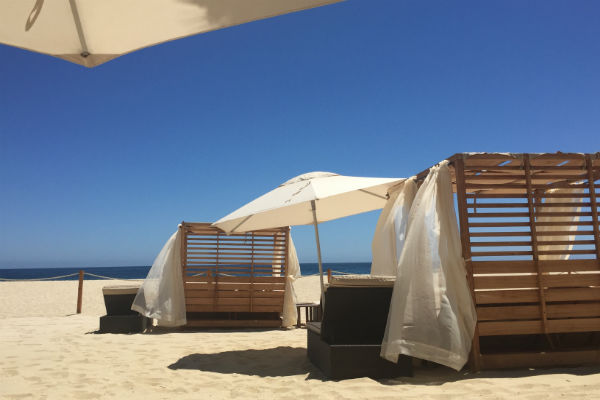 Enjoy a beautiful day at the beach, from the comfort of a cabana provided by the Hyatt Ziva Los Cabos