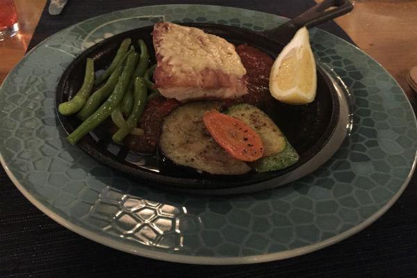 Fish dinner at Zaffiro Italian Restaurant at Hyatt Ziva Los Cabos