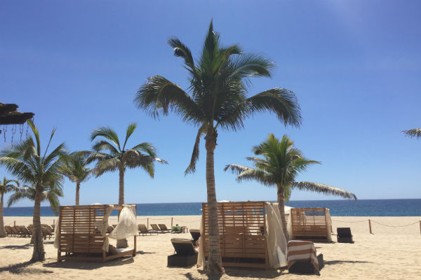 Beach Cabanas at the Hyatt Ziva Los Cabos
