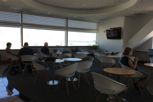 Dining Area Air France KLM Business Class Lounge at SFO