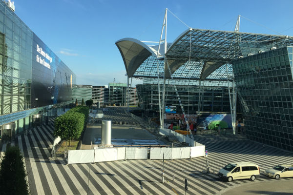 View from the Junior Suite at the Hilton Munich Airport Hotel