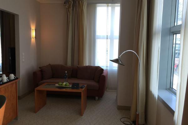 Hilton Munich Airport Junior Suite Living Room Area