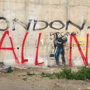 Banksy's Steve Jobs Mural Calais Jungle refugee camp
