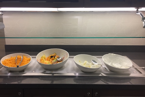 Fruit and Yogurt breakfast spread at Hyatt Place Chicago Downtown The Loop
