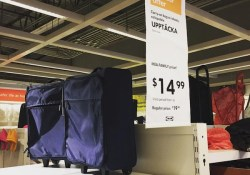 IKEA UPPTÄCKA collapsable carry-on bag