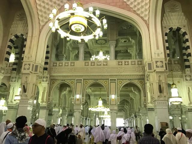 Walkway towards the Kaaba nside Masjid Al Haram
