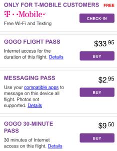 T-mobile free hour of in-flight wifi onboard Virgin America JFK to SFO