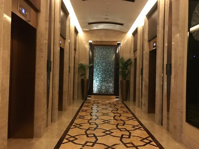 Conrad Dubai Elevators in the lobby