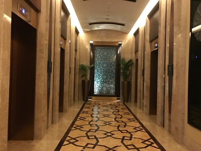 Conrad Dubai Elevators in the lobby