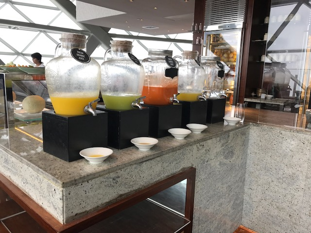 Hyatt Capital Gate 18 Degrees Diamond Breakfast Juice