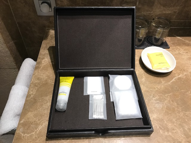 Portico amenities at the Hyatt Capital Gate Abu Dhabi