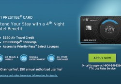 Citi Prestige Credit Card Points
