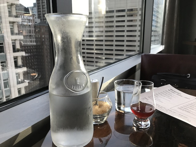 Conrad Chicago Baptiste & Bottle Gold and Diamond Breakfast