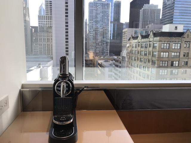 Review Conrad Chicago Superior Room Nespresso Machine