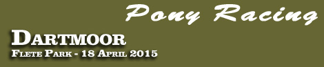 Pony Racing Entries: Dartmoor Point-To-Point, Flete Park, 18th April 2015