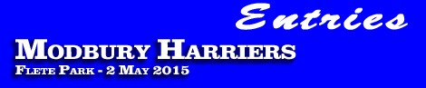 Modbury Harriers Point-To-Point entries and form, Flete Park, Saturday, 2nd May 2015