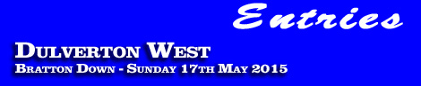 Dulverton West Point-To-Point entries, ratings and form guide, Bratton Down, 17th May 2015