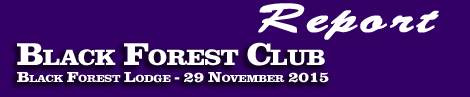 BLACK FOREST CLUB POINT-TO-POINT REPORT – 29 NOV 2015