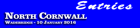 North Cornwall Point-To-Point, Sunday 10th January 2016 – entries and form guide