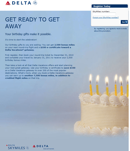 You Shouldn't Have...Bday Presents From Airline And Hotel Loyalty Programs