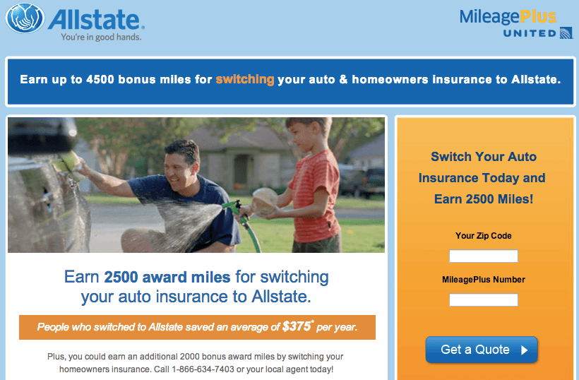 Allstate Quote Online Amusing Up To 4500 United Miles From Allstate.now Available Online