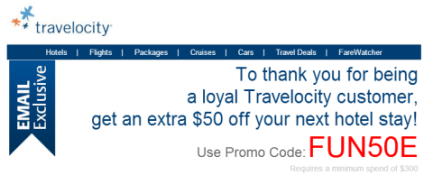 Travelocity 48 Hour Promo