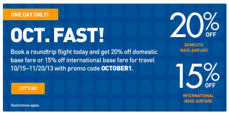 JetBlue 1 Day Sale