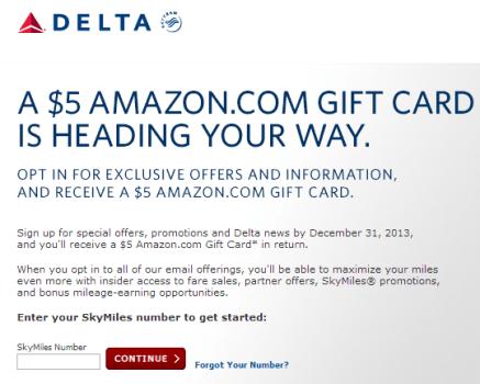 Delta Amazon Gift Card