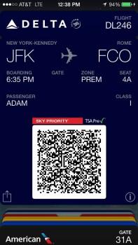 Delta JFK Rome FCO Trip Report B767-30001