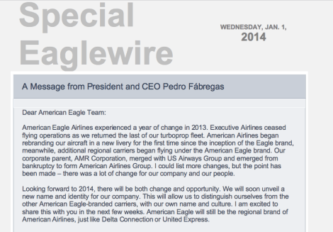American Eagle Communication Jan 1