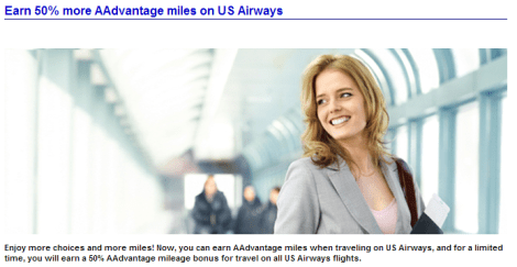 Earn 50 Percent Bonus US Flights AA